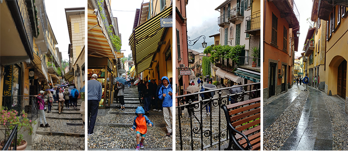 The vibrant shopping street of Bellagio