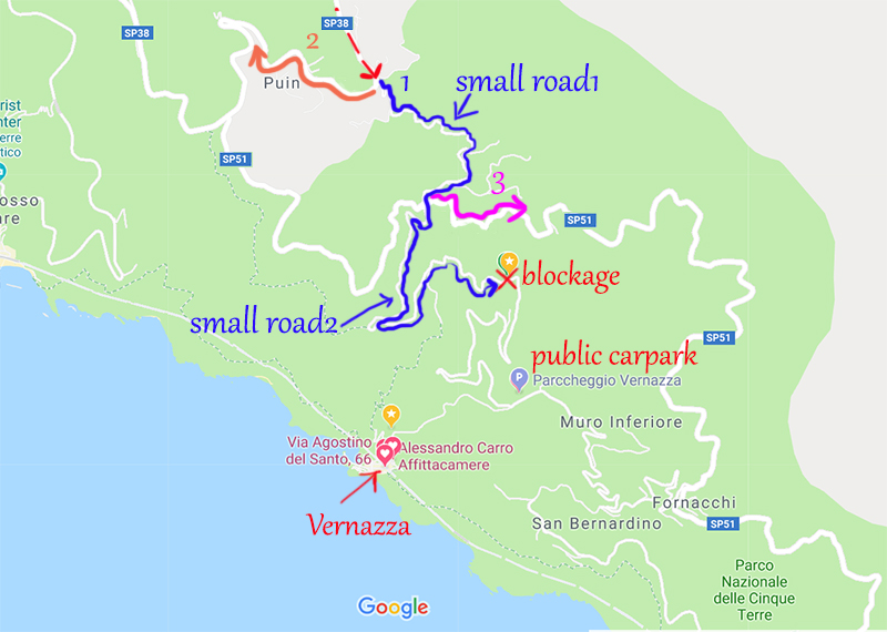 Roads to Vernazza