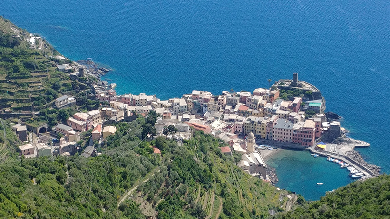 Vernazza as view from the hill