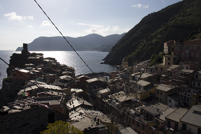 Vernazza near sunset timing
