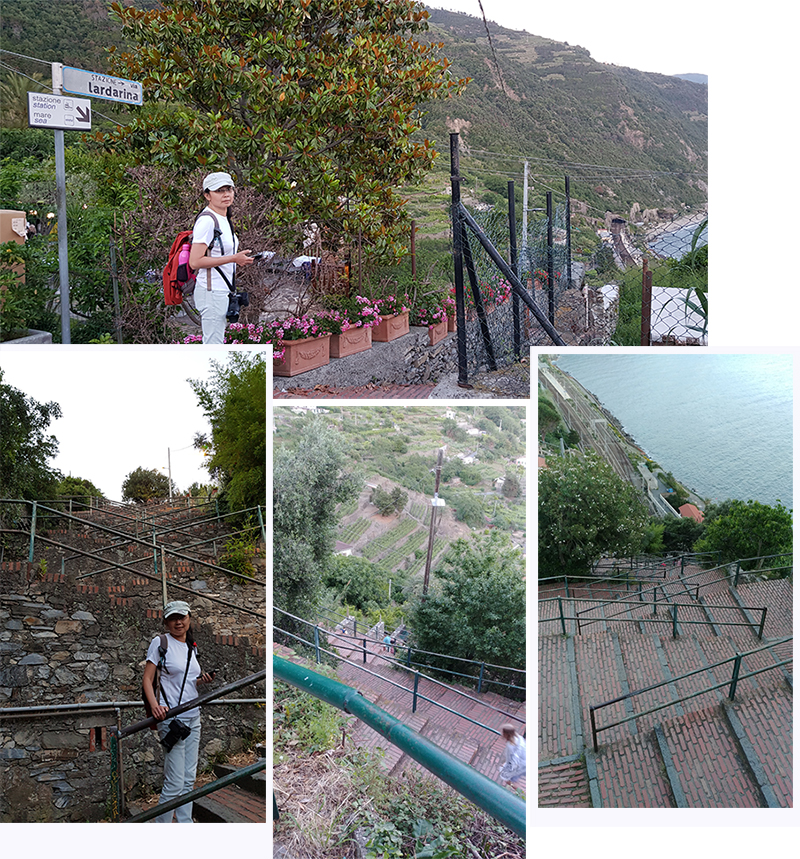 377 steps from Corniglia to train station
