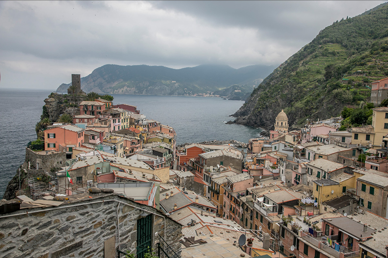 Lovely view of Vernazza in the morning