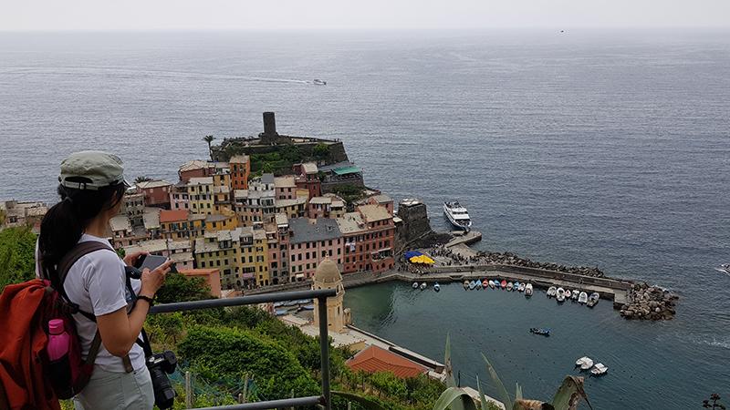 Panoramic view of the town near Santa Margherita di Antiochia Church
