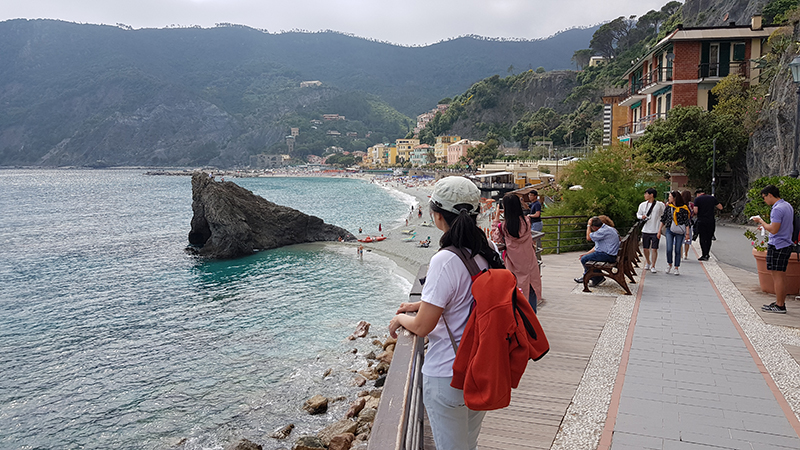 Beach front of Monterosso