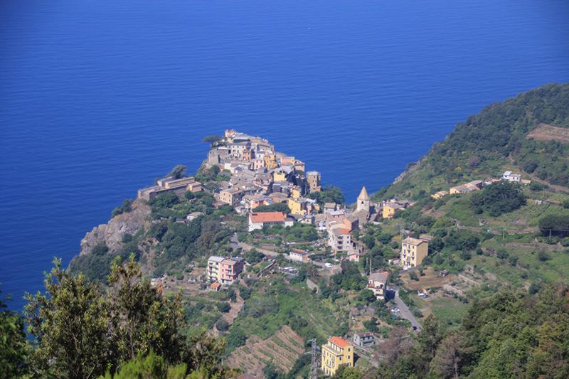 Top view of Corniglia