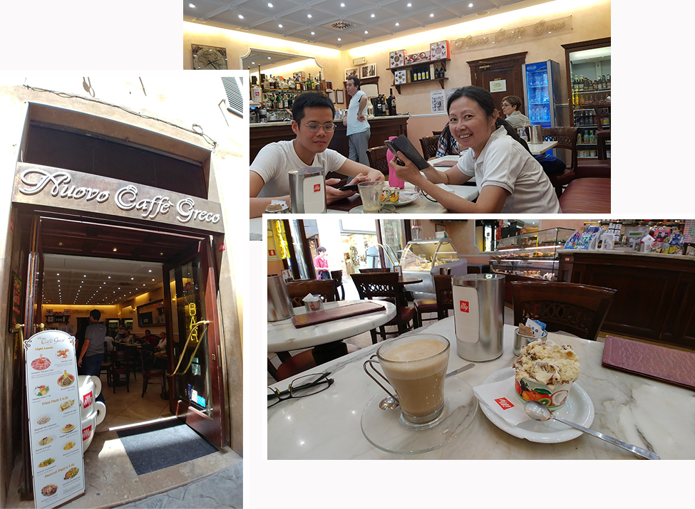 Coffee and cake at Siena Historic Town