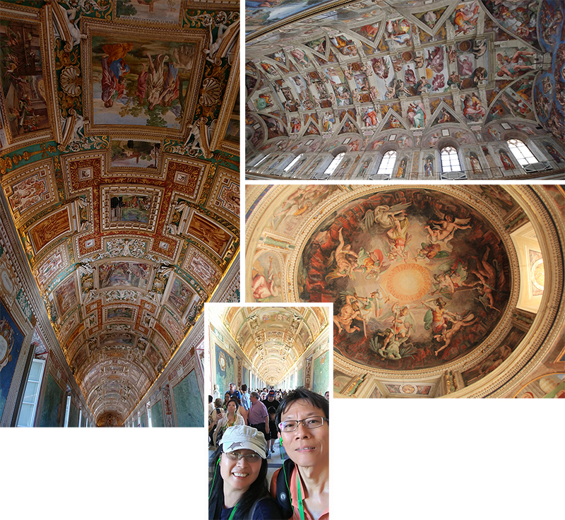 Beautiful ceilings of the Vatican Museum