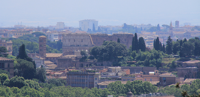 Coliseum as seen from Janiculum Terrace