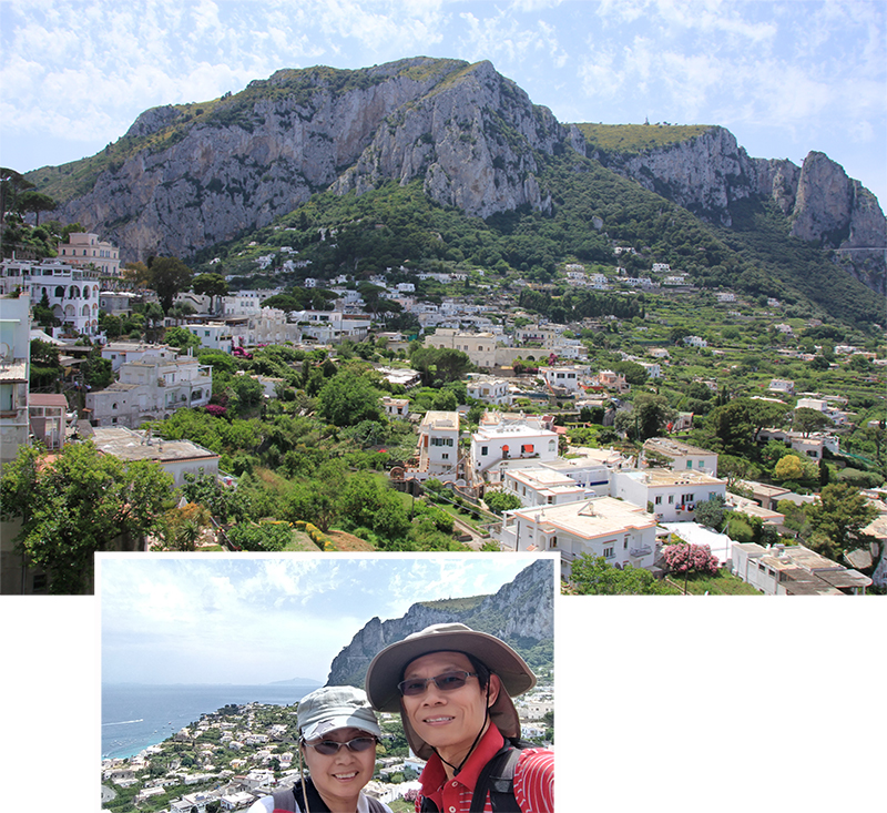 Capri as seen from the funicular station