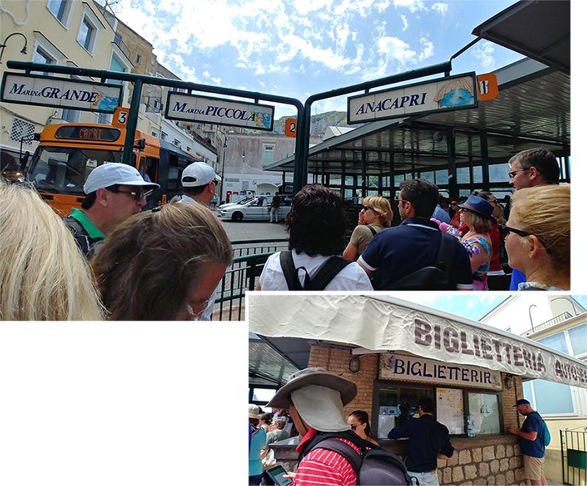 """""""Bus terminal"""" in Capri Town"""