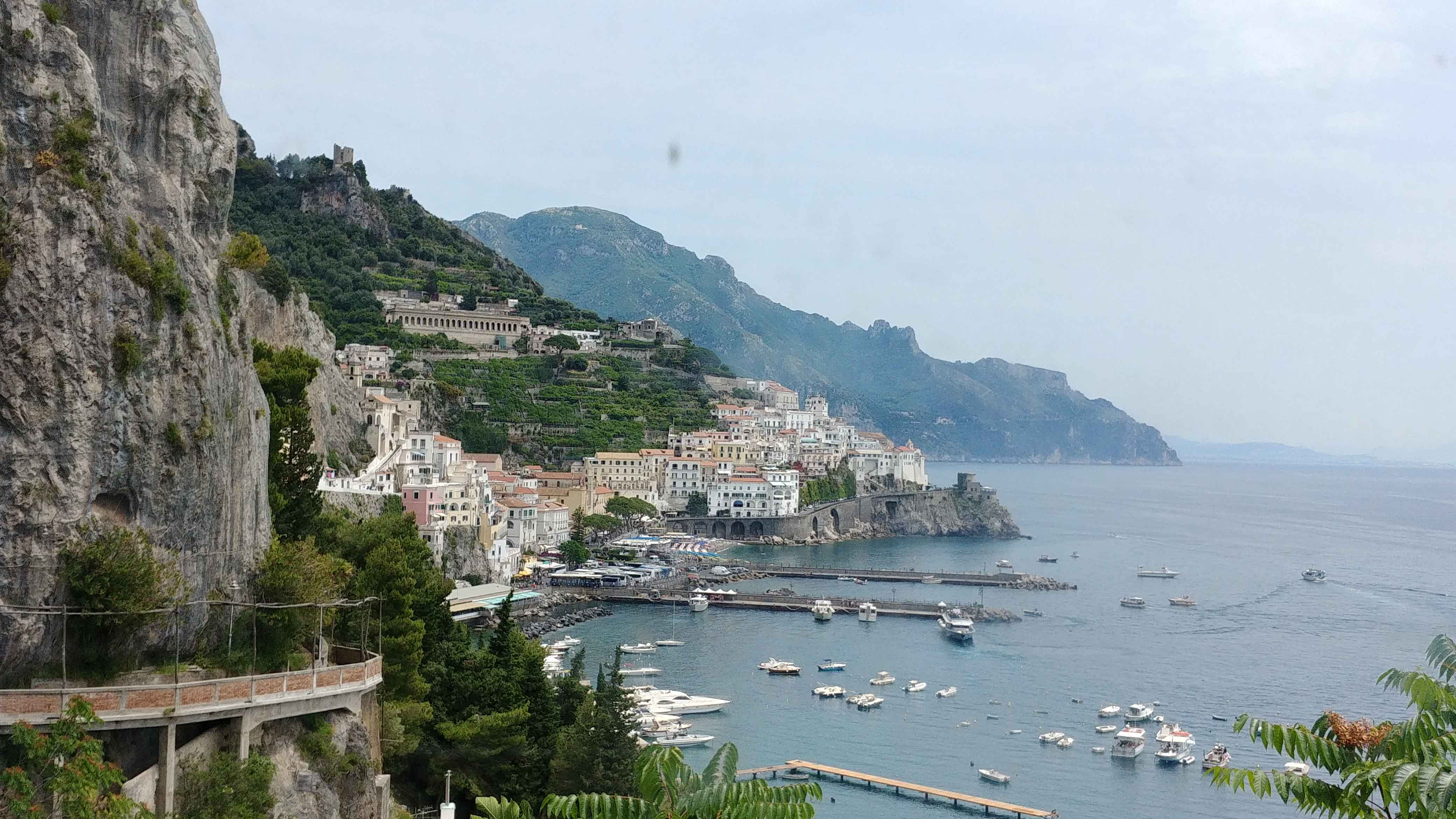 Amalfi Town seen from afar