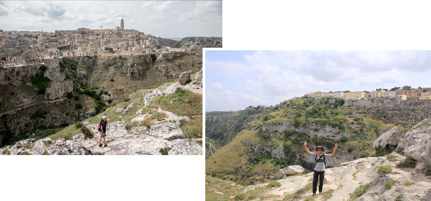 Matera as view from across the gorge