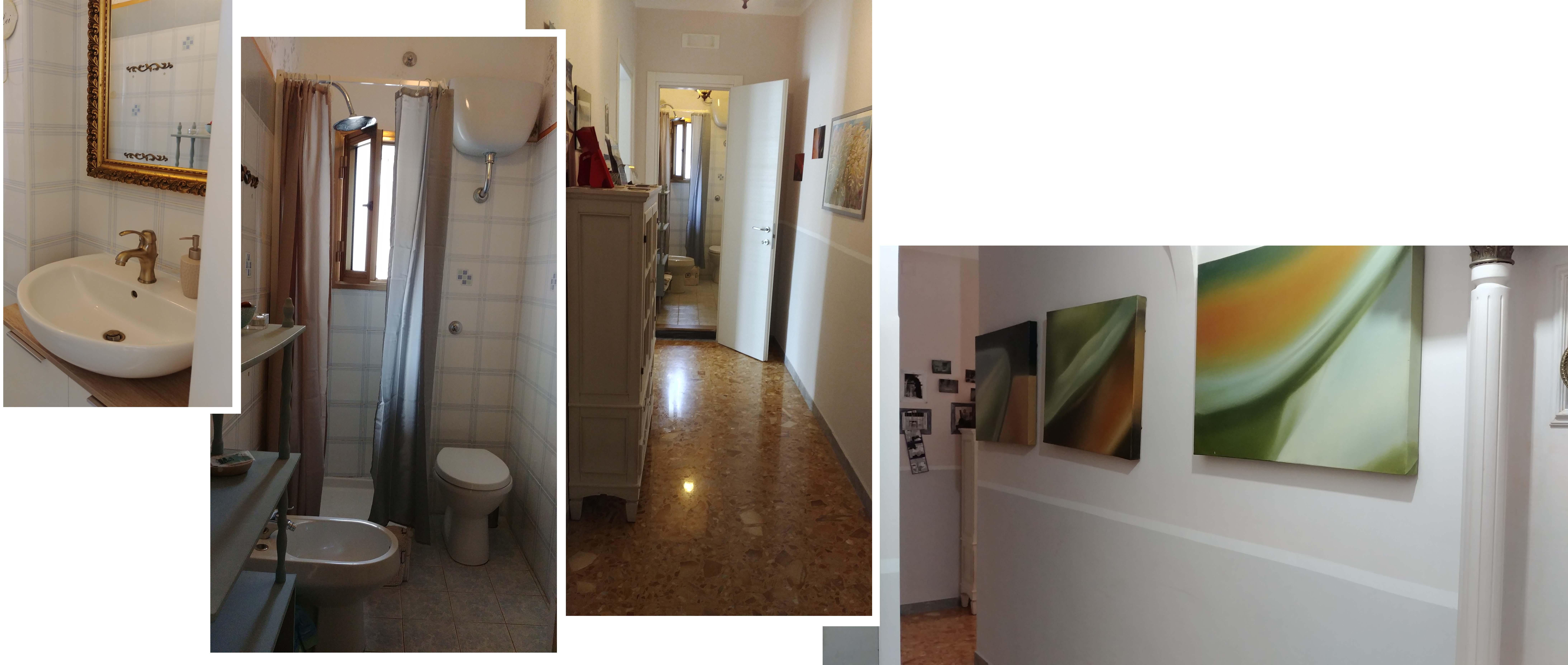 Bathroom and corridors