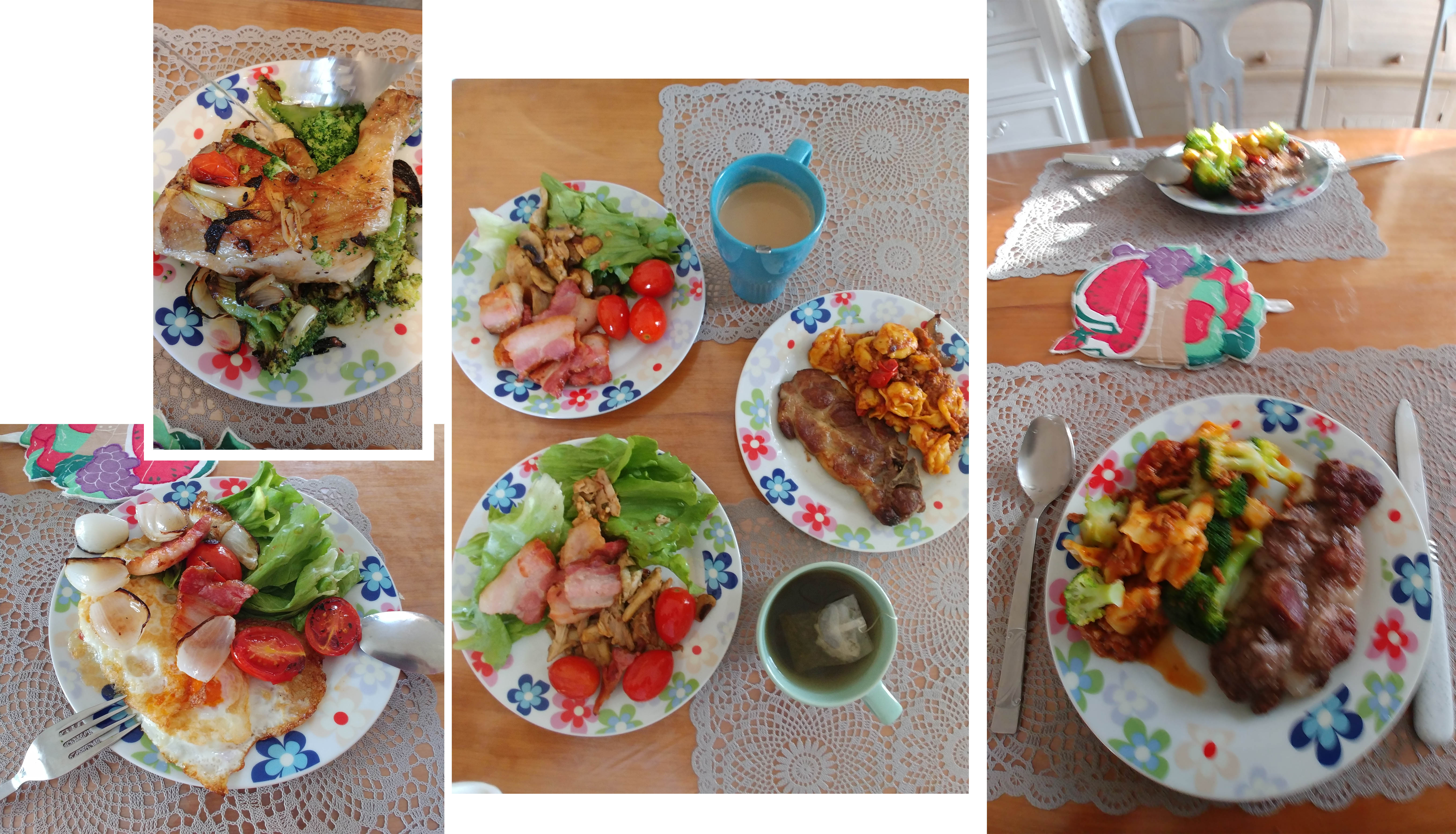 Four home cooked yummy meals