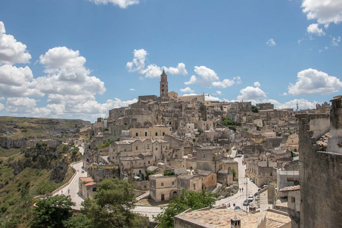 Day view of Matera as seen from Convent di Saint Augustino