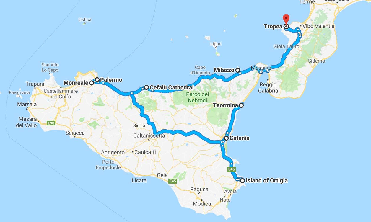 Our final Sicily Route