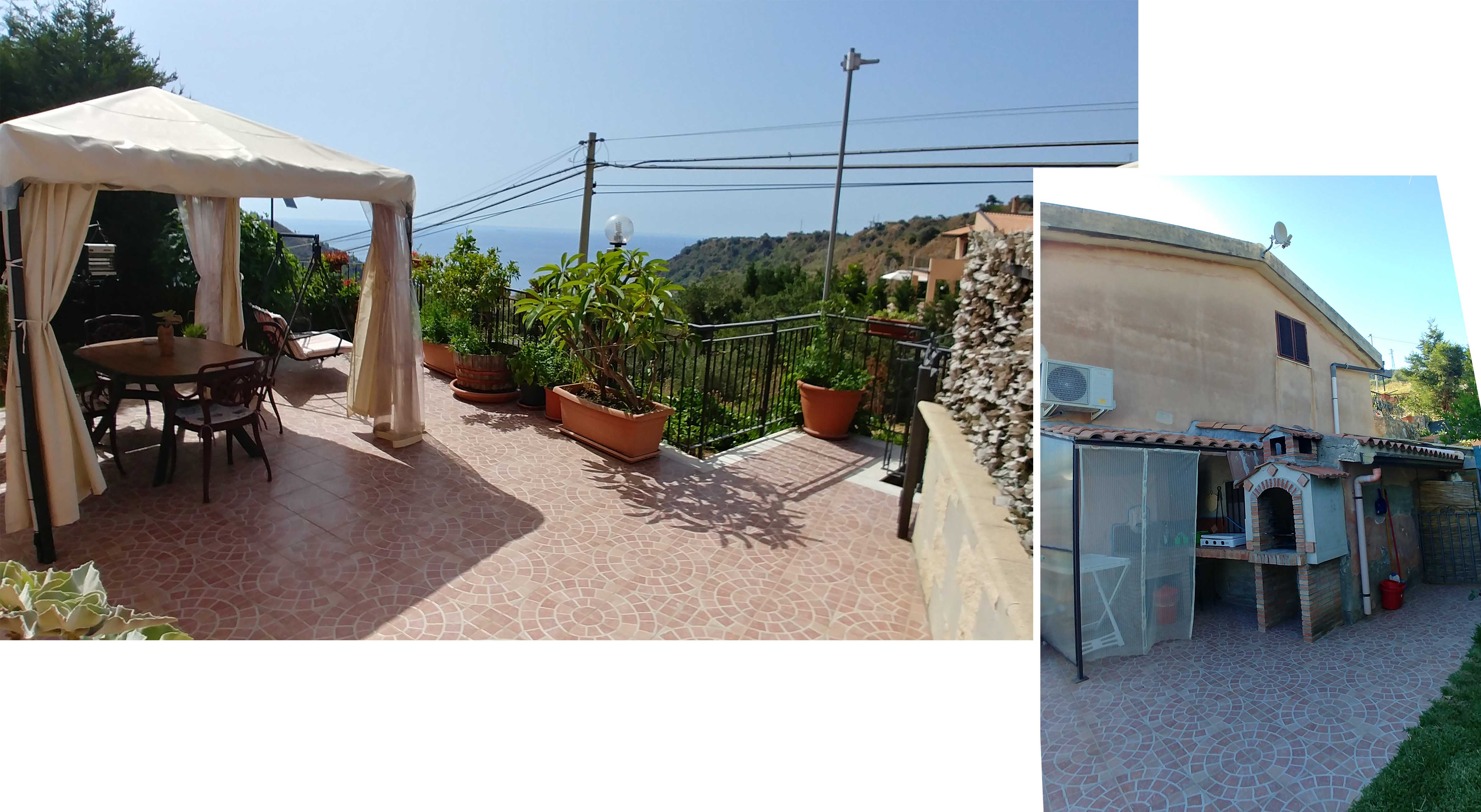 Our private terrace and outdoor cooking area