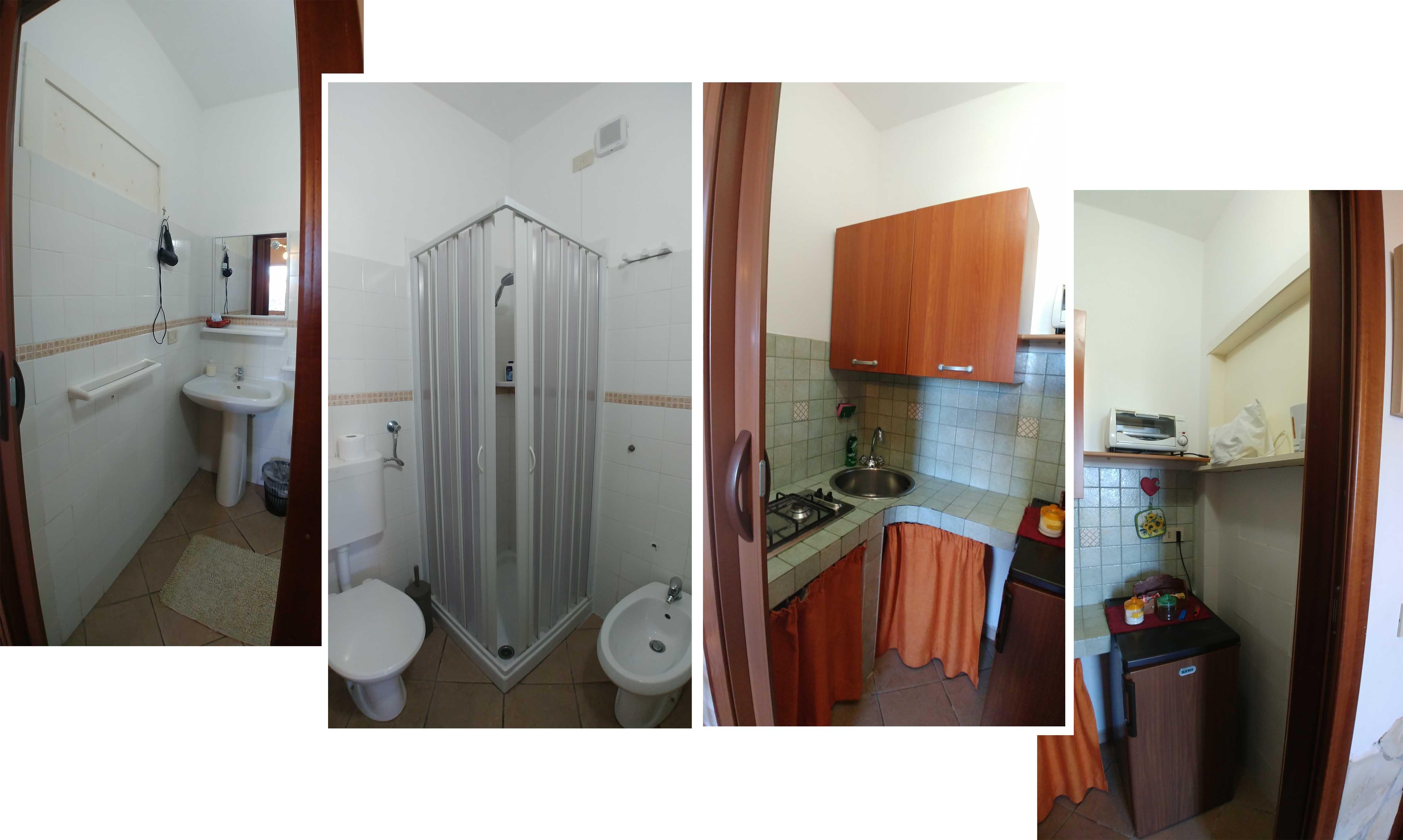 Toilet and kitchen