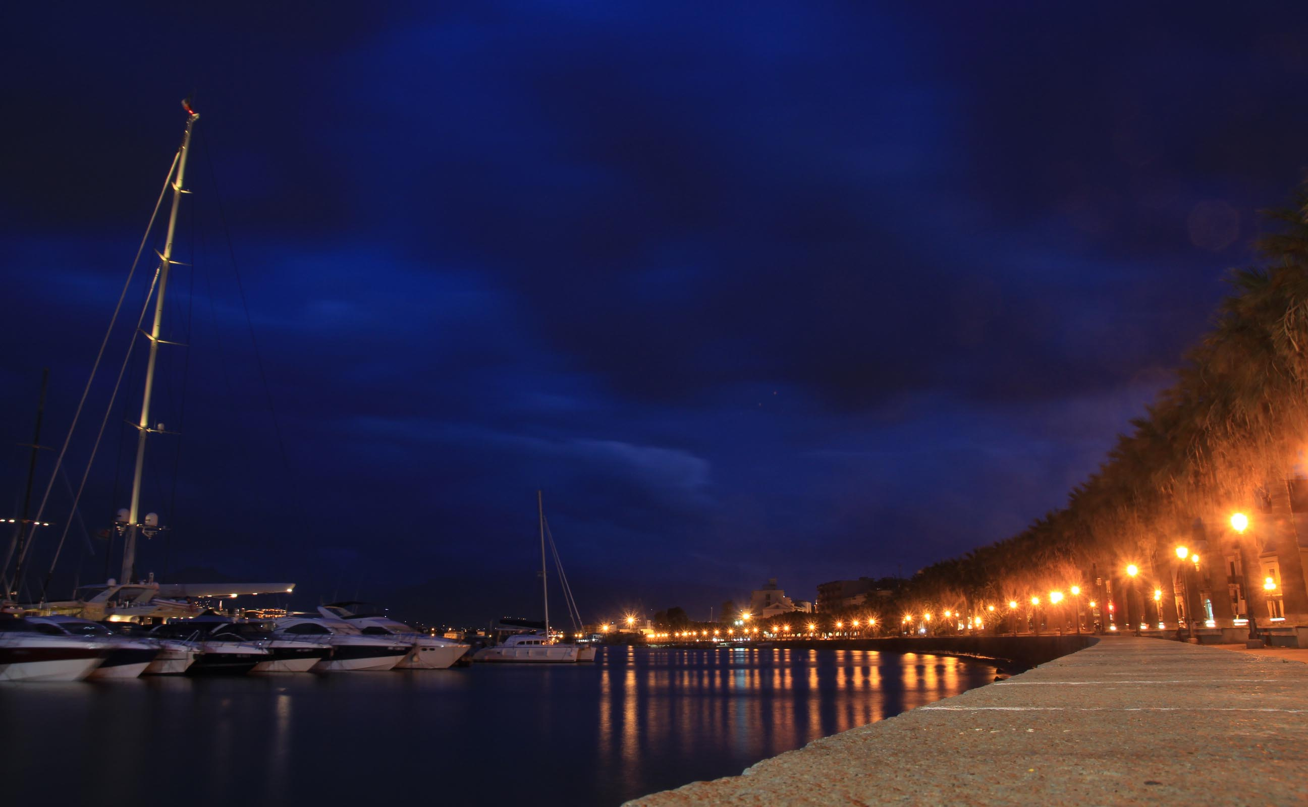 Promenade at Milazzo Harbour front