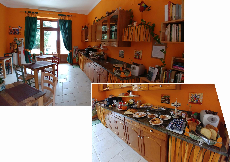 Kitchen and yummy breakfast