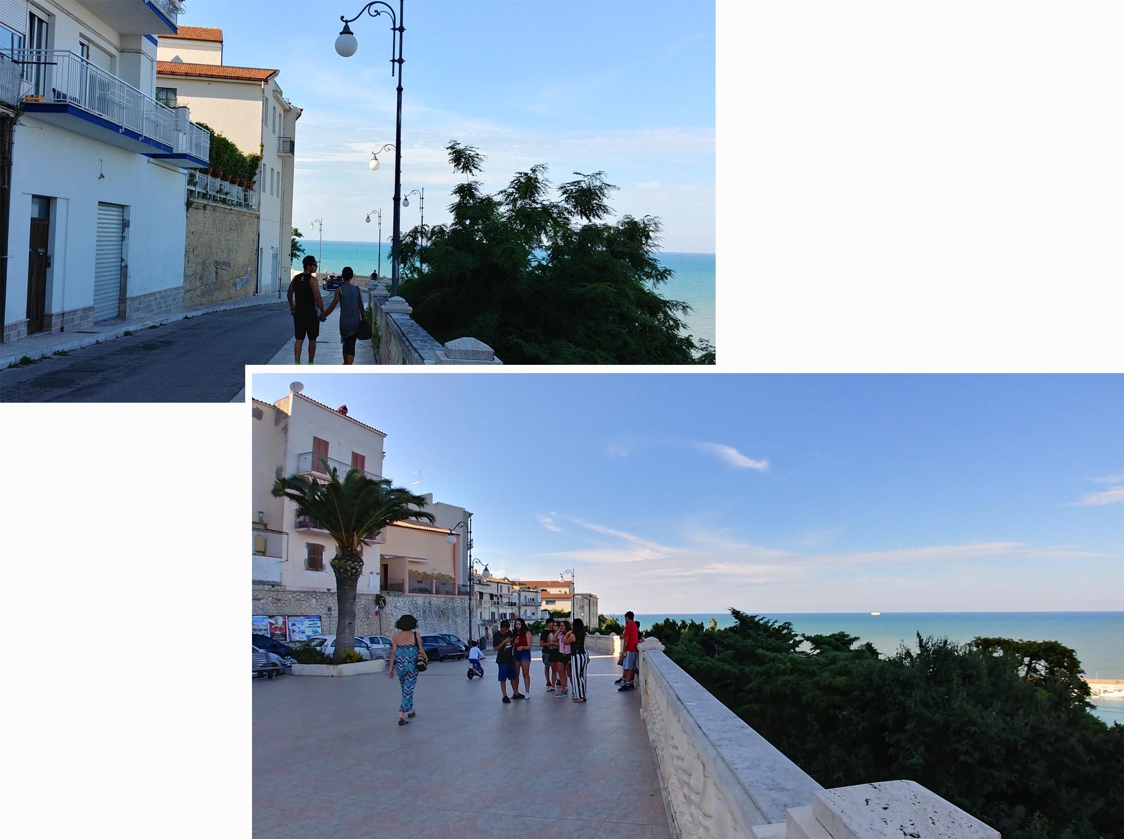 Promenade over looking the Ortano marina