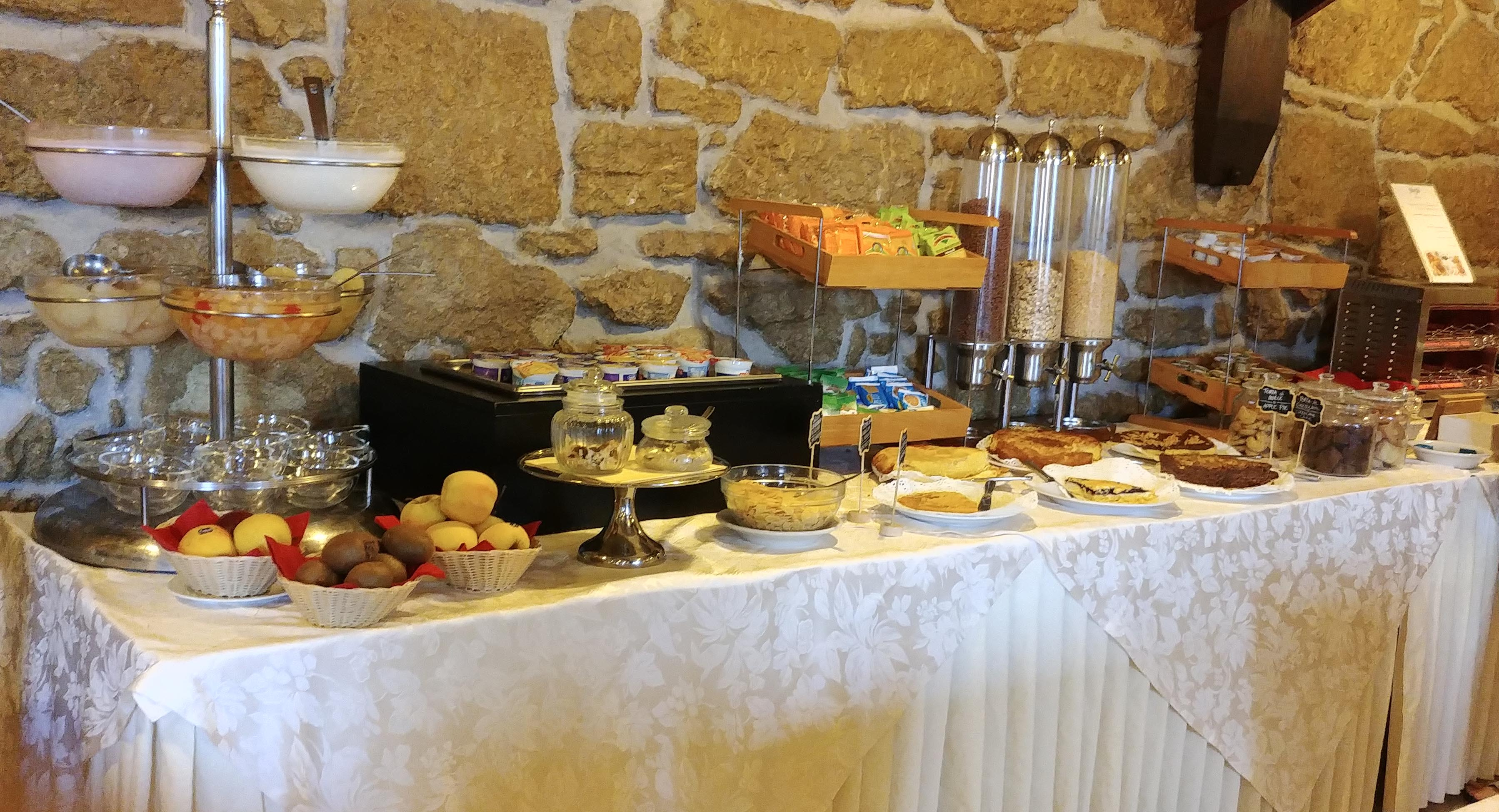 Breakfast spread at Hotel Joli