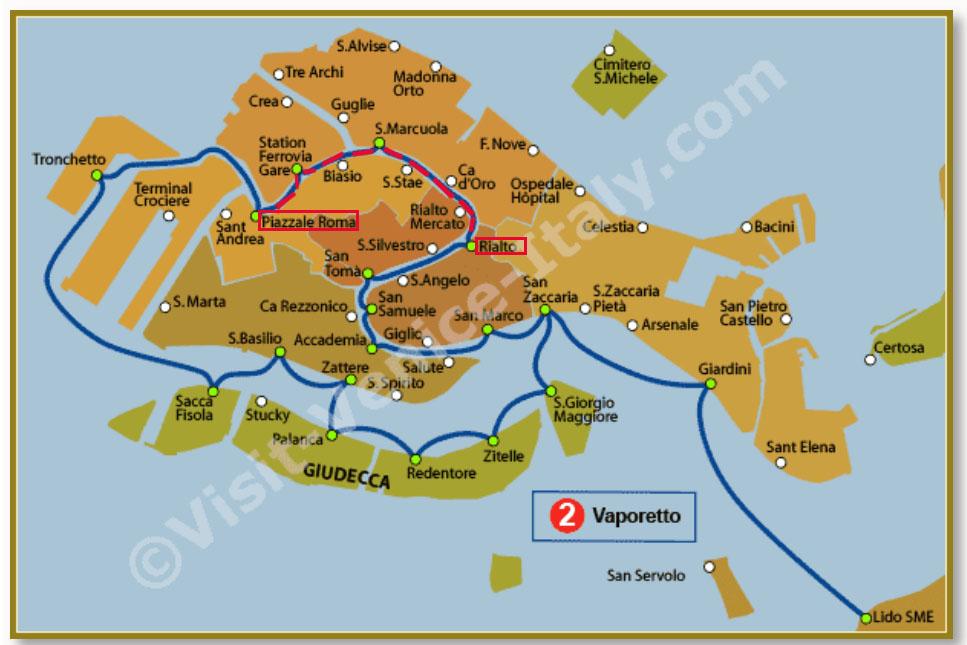 Route Waterbus 2 (www.visit-venice-italy.com)