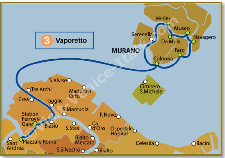 Route Waterbus 3 (www.visit-venice-italy.com)