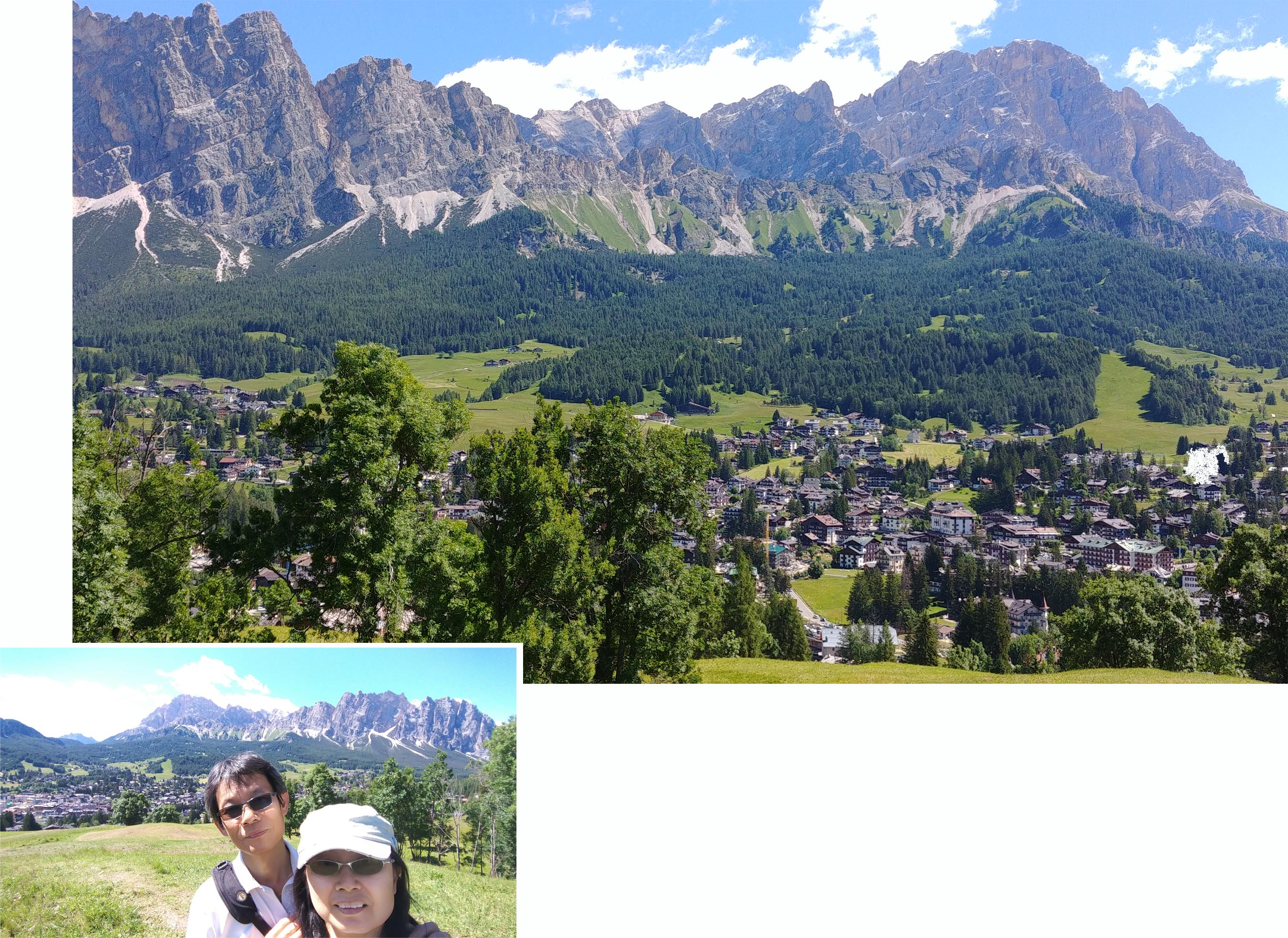 Dolomites towering above Cortina d' Ampezzo