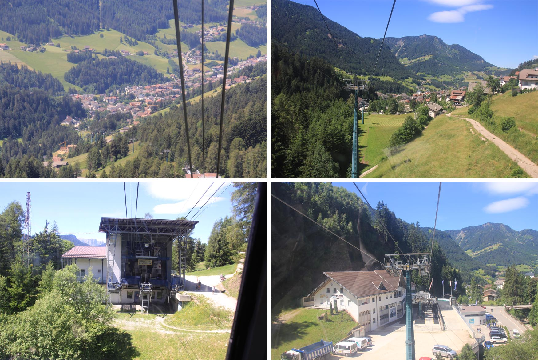 Cable car ride at Seceda Funivie