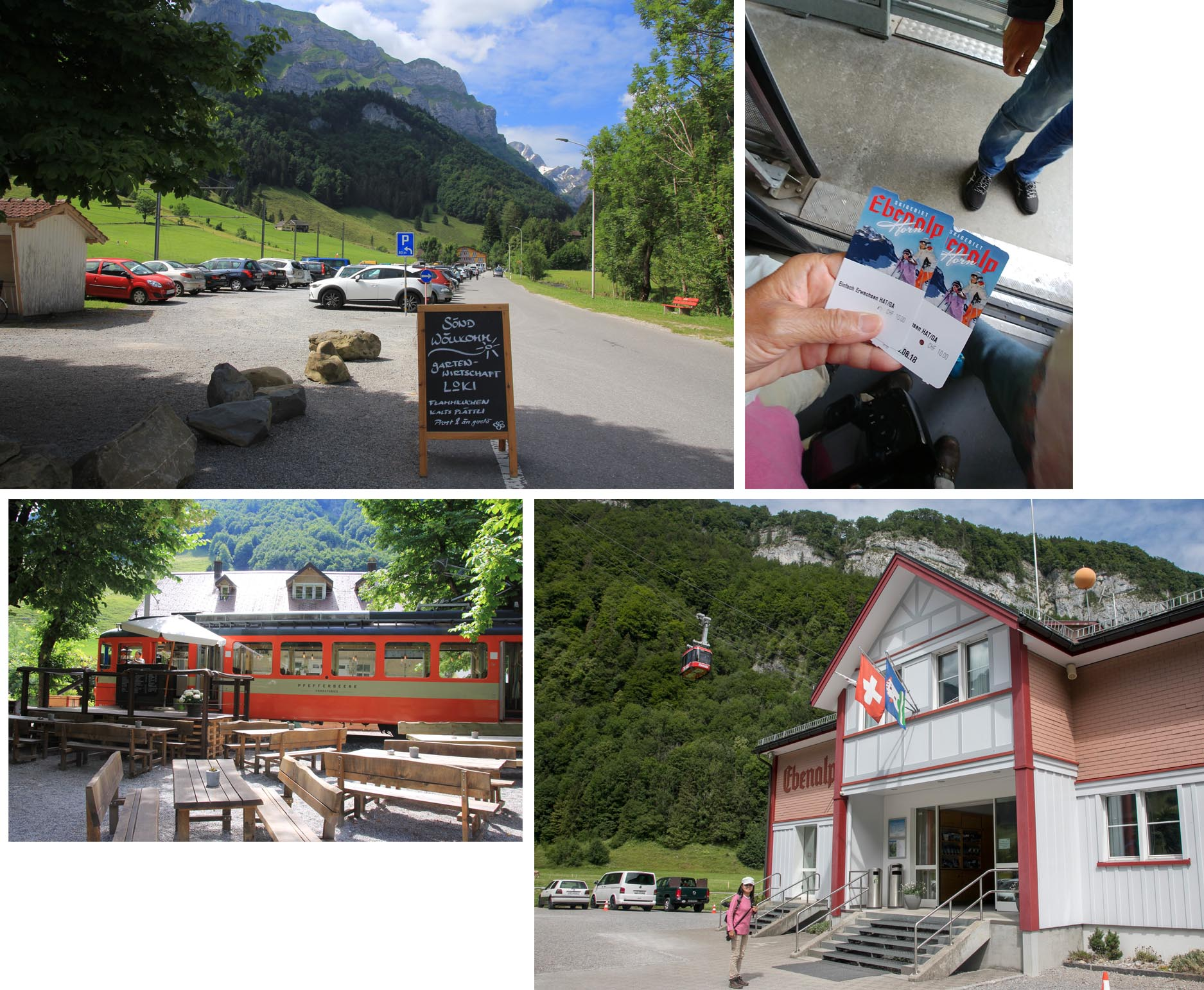 Ebenalp free parking, cafe, cable car station