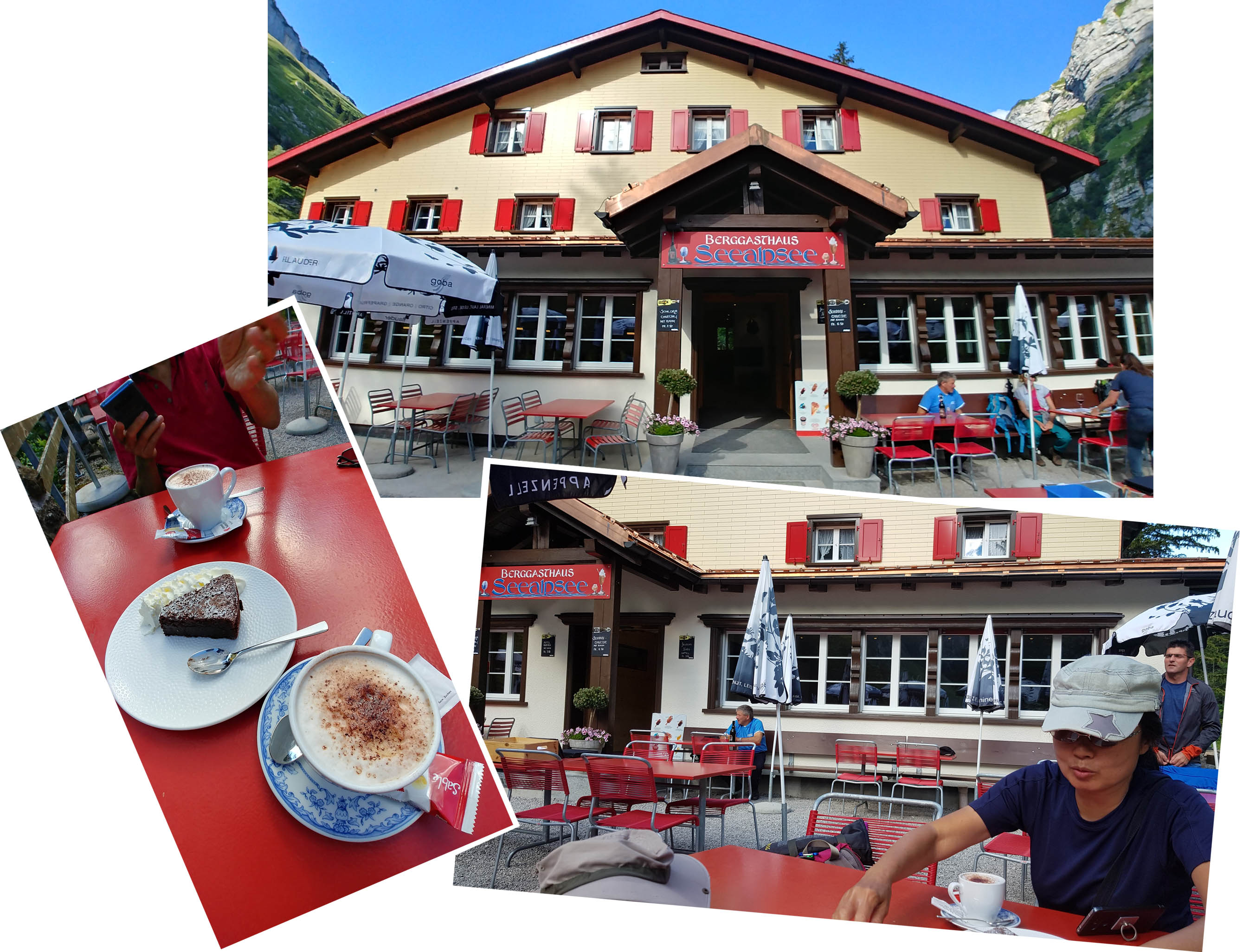 Coffee break at Berggasthaus Seealpsee