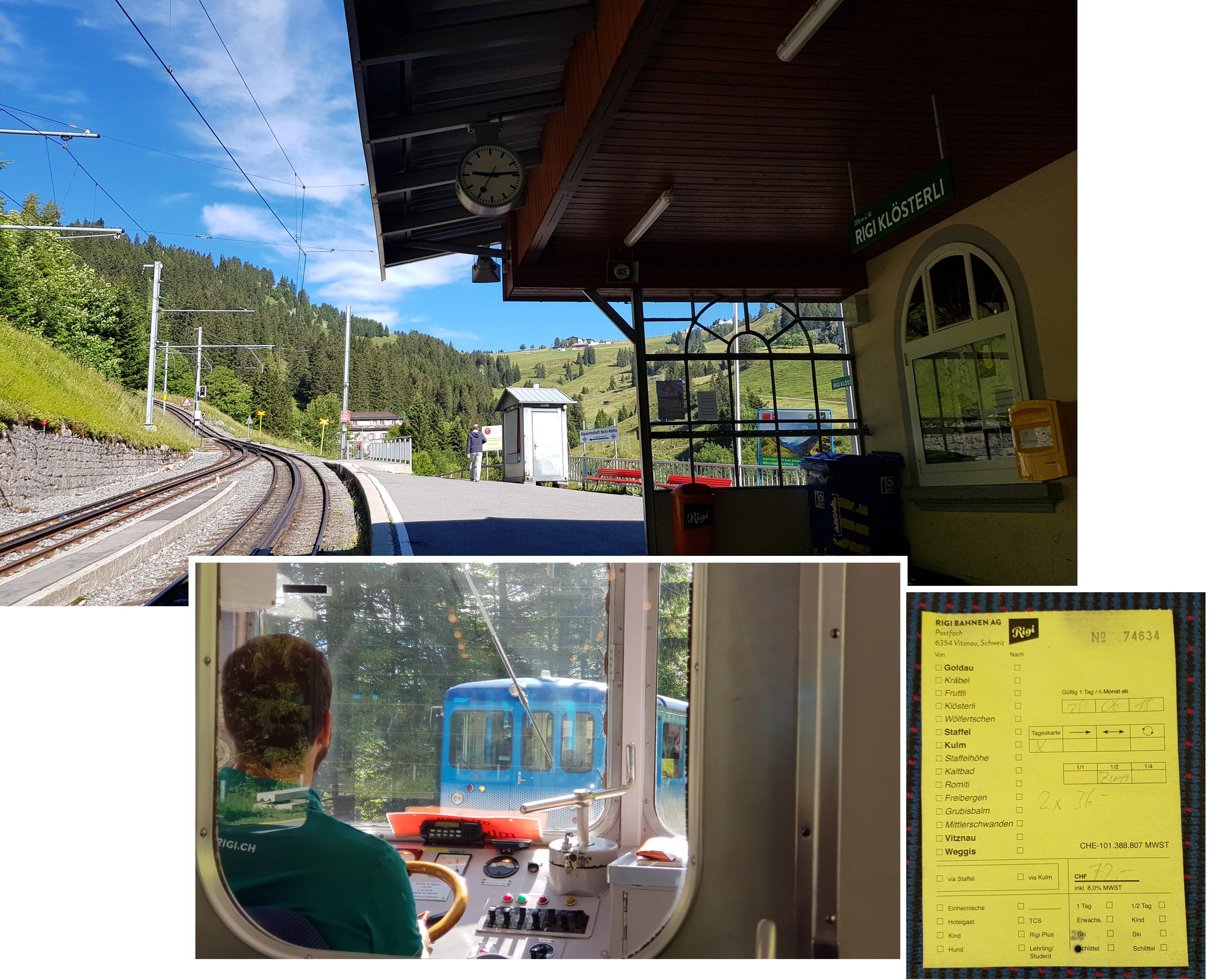 Purchased the Rigi Day Passes (in the form of a receipt) from the train driver