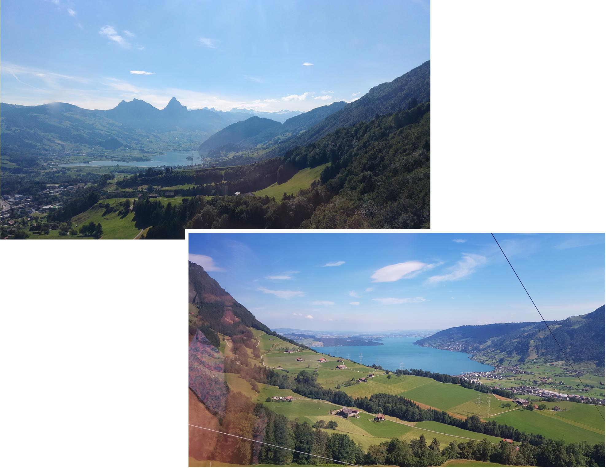 View of Lake seen on the cable car ride