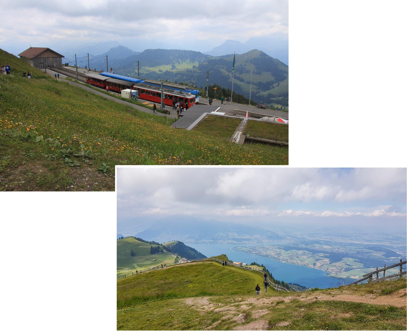 Rigi Klum station (Rigi Klumweg) and Lake Lucerne