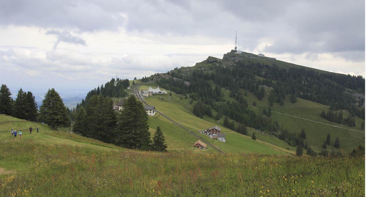 Rigi Kulm as seen from Rigi Rotstock