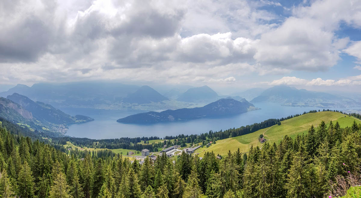Lake Lucerne as seen from Rigi Rotstock