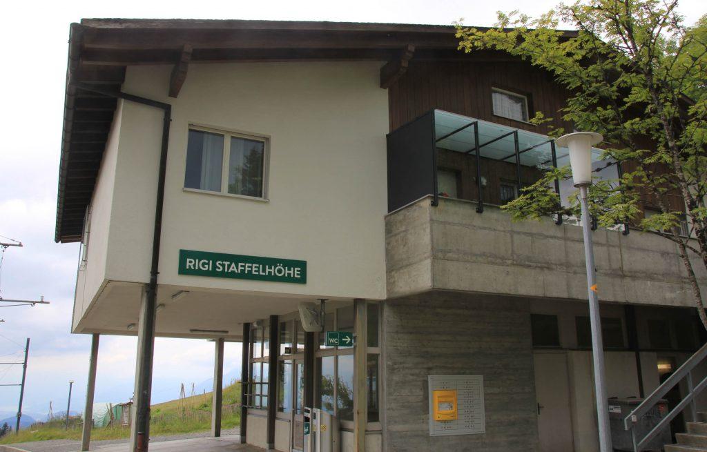 Rigi Staffelhohel cogwheel train station