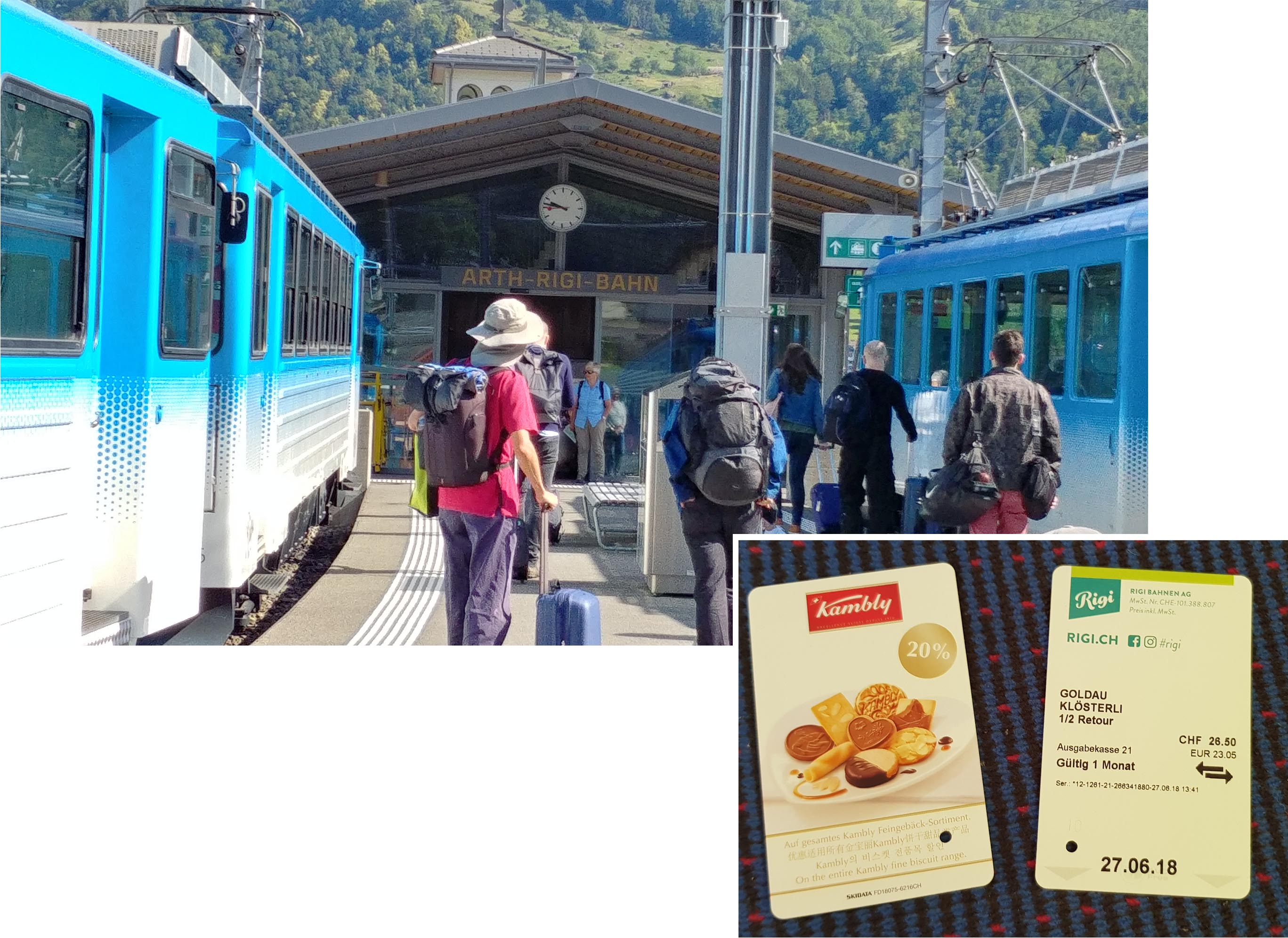 On our way to Rigi Klosteris with return tickets