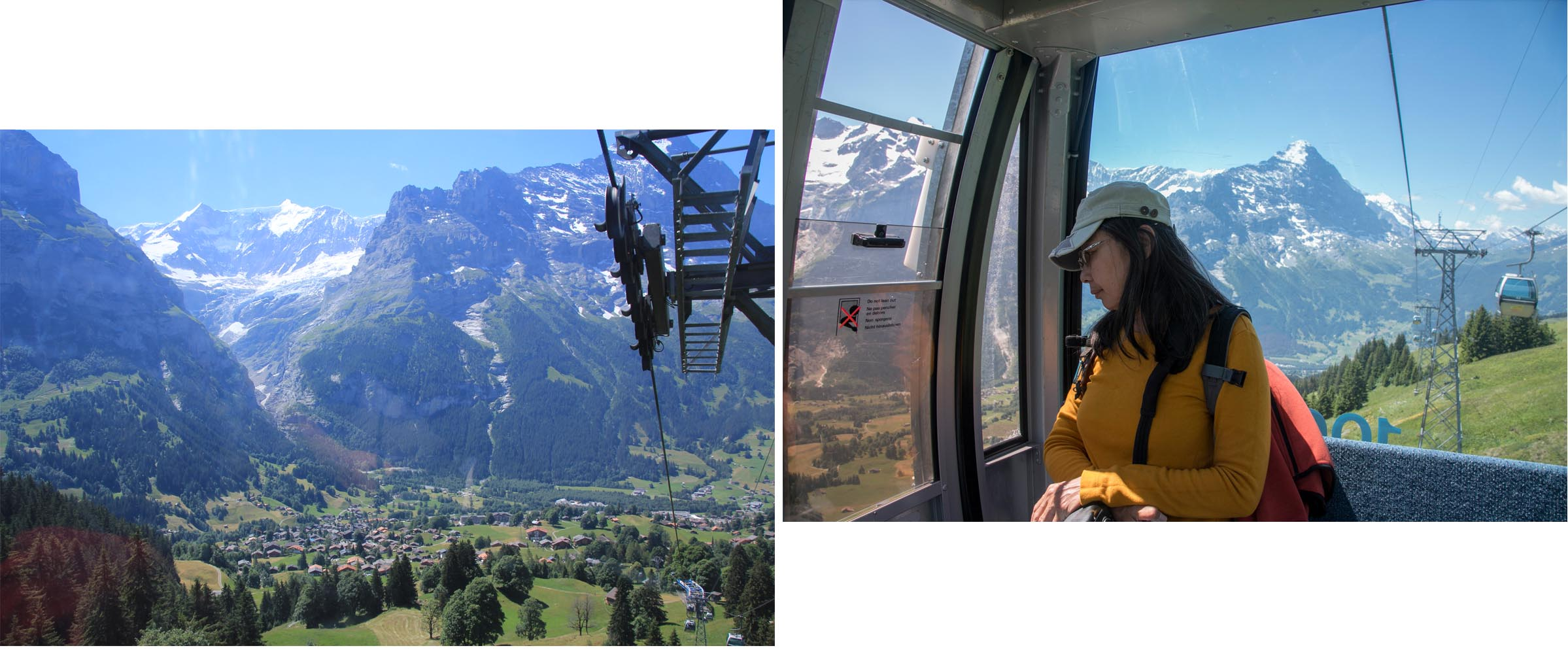 Stunning scenery as seen from the cable car