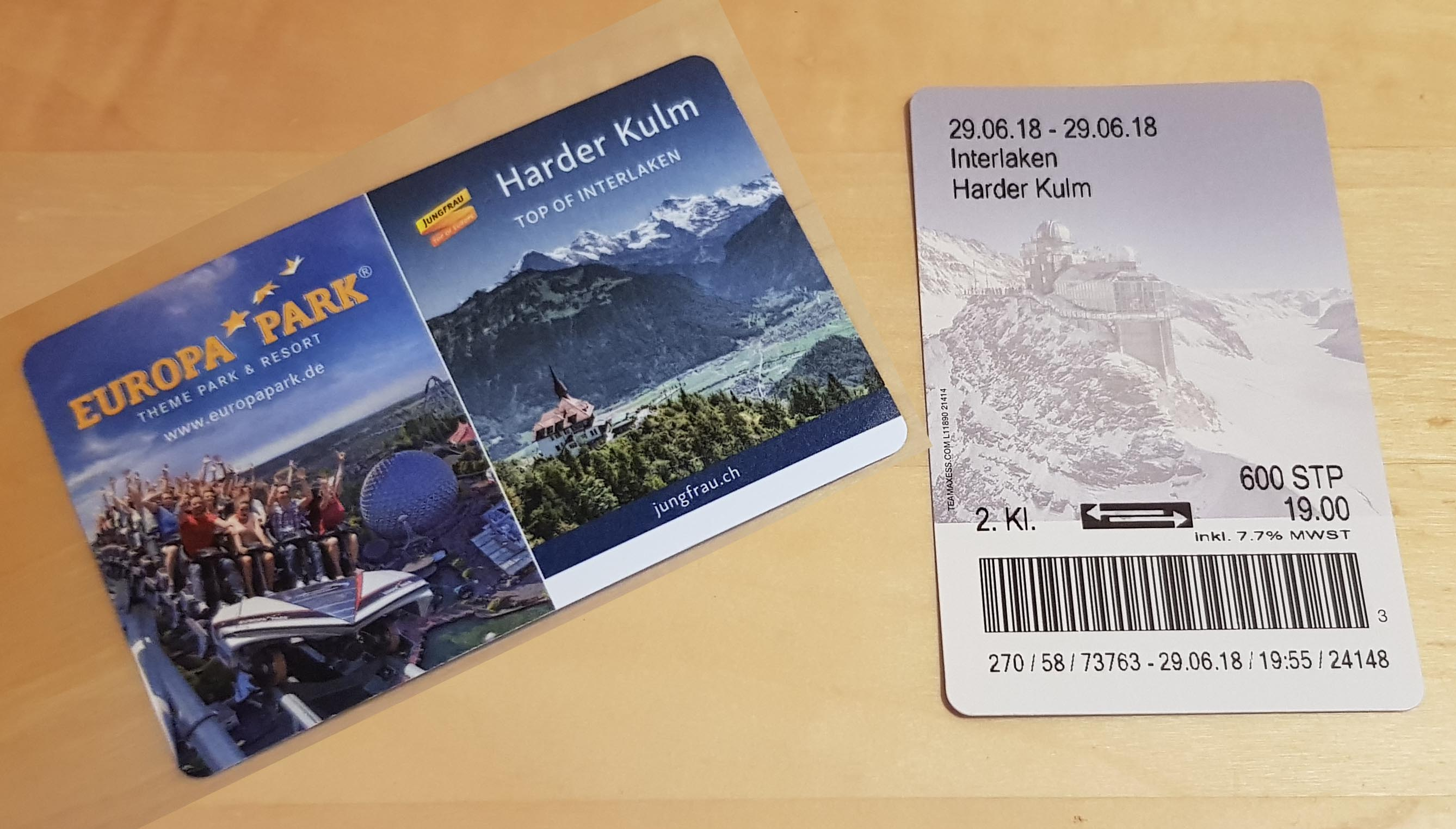 Tickets for Harder Kulm Funicular ride