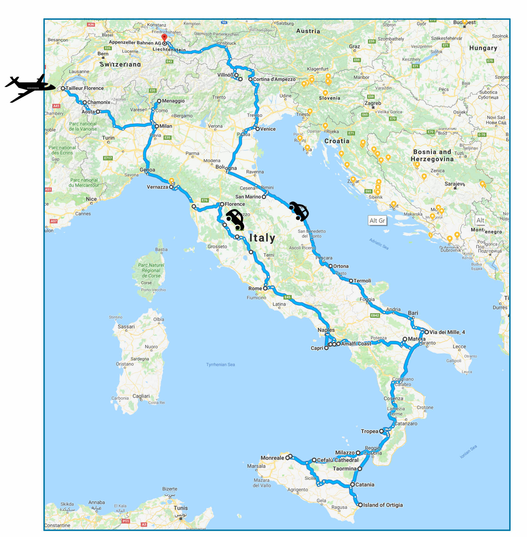 Our road trip in Italy