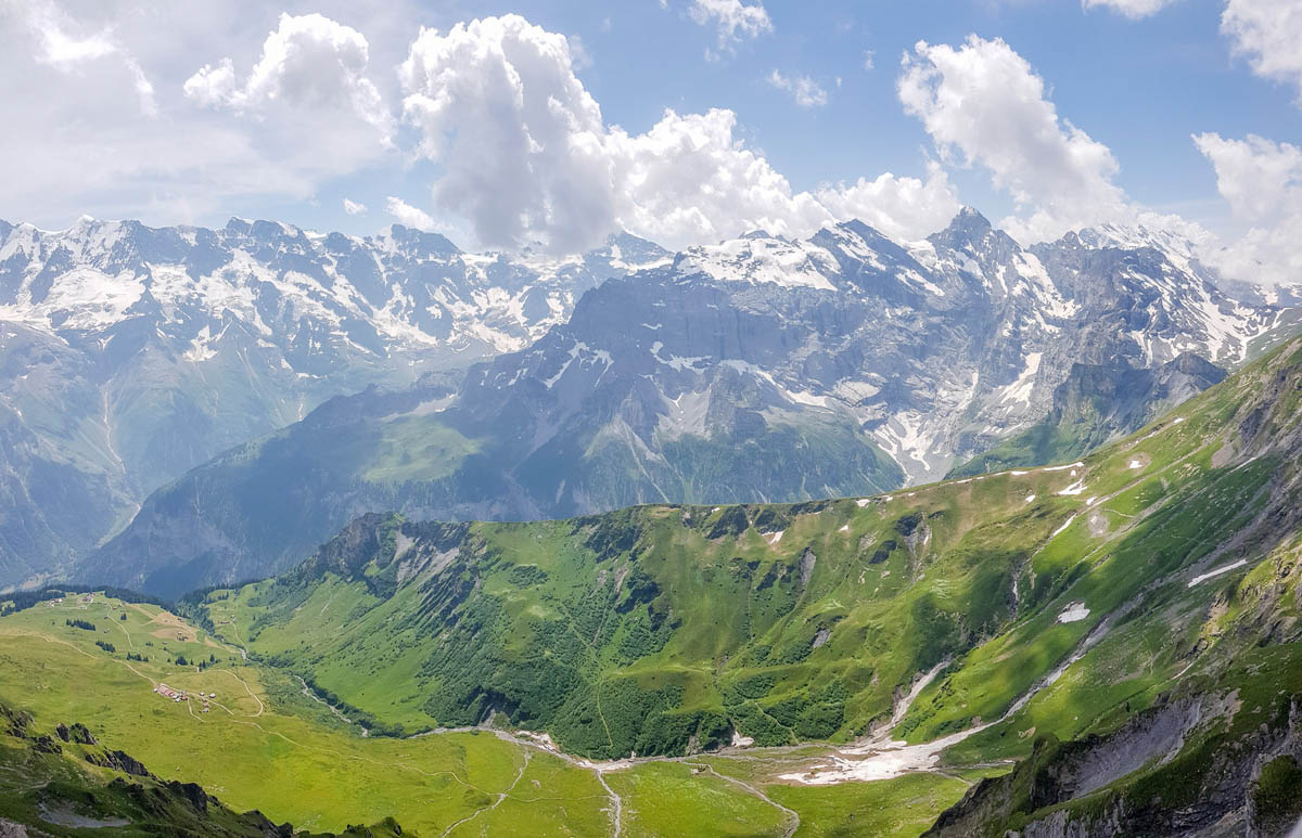 View as seen on the way up from Birg to Schilthorn