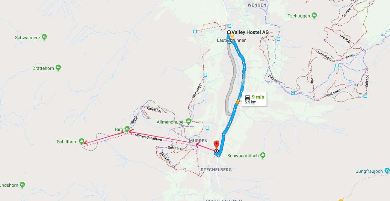 Route to Schillthorn