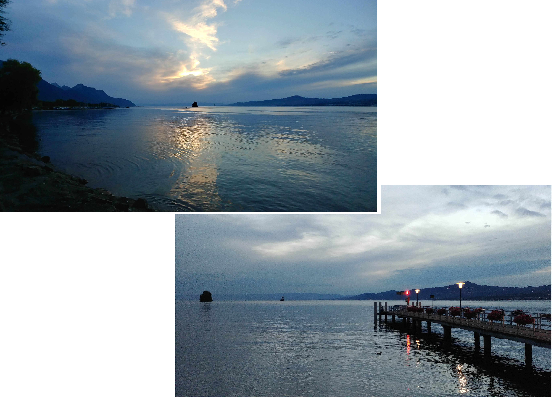 Sunset at Lake Geneva