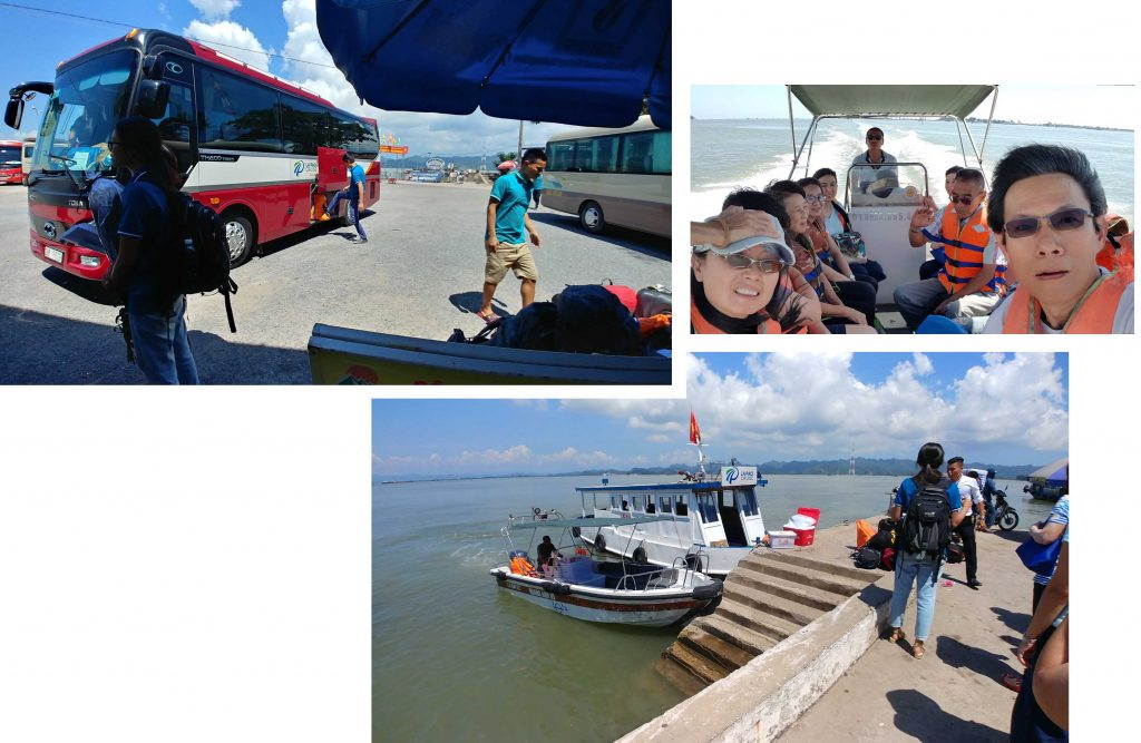 Transfering to the big boat, La Paci Cruise Boat