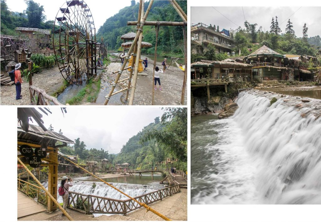 Cat Cat village river and waterfalls