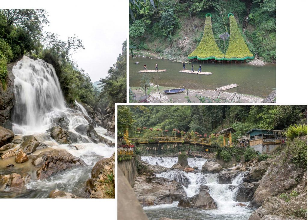 Cat Cat village - water falls and bamboo rafting