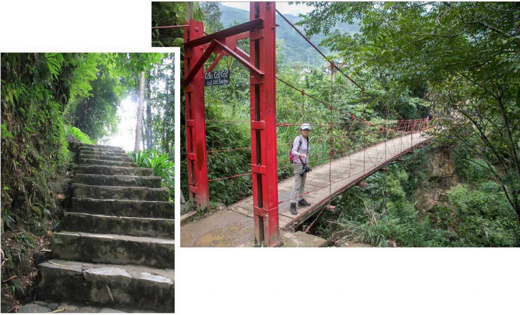 Crossing Cau Cat Cat Bridge