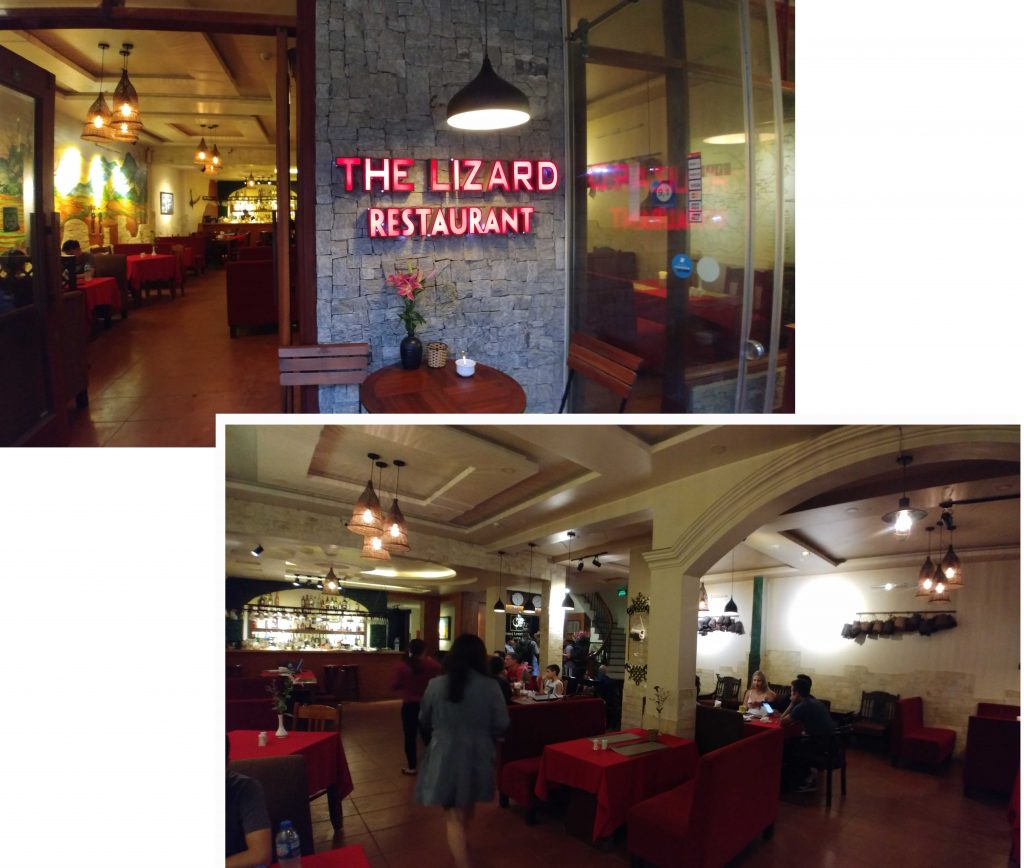 We had our dinner (Italian) at The Lizard Restaurant